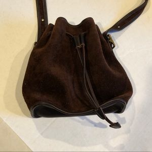 COACH Berkeley bucket bag brown suede D6B 9012